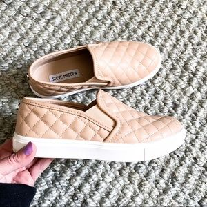 Steve Madden | Nude Quilted Sneakers
